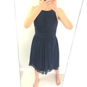 Lauren Ralph Lauren flare chiffon navy flare dress